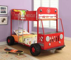Delicieux Coaster 46026 Twin Twin Fire Rescue Bunkbed