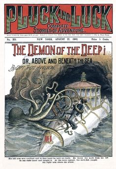 1902. Love the Jules Verne-esque conceptual submarine.