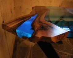 Projeto impressionante de mesa de madeira de resina 35