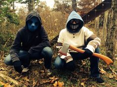 Me and my sisters Halloween costumes. Me-Eyeless Jack. My sister-Ticci Toby.