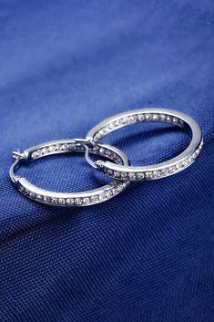 Luxury Austrian Crystal Hoops – Melissa Jean Boutique Round Earrings, Austrian Crystal, Boutique, Crystals, Luxury, Bracelets, Hoop, Silver, Jewelry