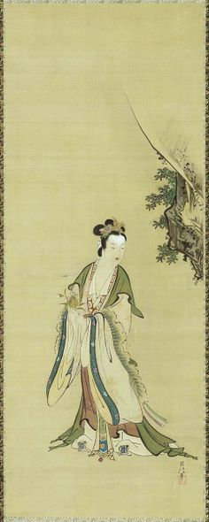 Xiwangmu (Seiobo), the Queen Mother of the West | Tattoo Ideas & Inspiration - Japanese Art | Kanô Chikanobu (1660–1728), Edo period, first half of the 18th century.