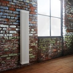 Milano Windsor - Traditional 8 x 2 Column Radiator Cast Iron Style White x - White Vertical Traditional Designer Radiator brick wall factory Vertical Design, Brick And Wood, Concrete Floors, Types Of Rooms, Central Heating, Solid Brick, Vertical, Column Radiators, Roof Insulation
