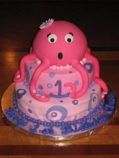 This gave me an idea to use the Betty Crocker cake pan to make an octopus cake