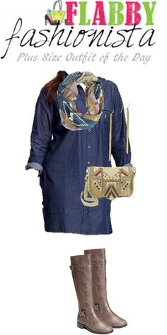 Plus Size Outfit of the Day - Denim Dress