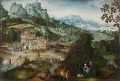 A Landscape with a Rest on the Flight into Egypt, second quarter of the 16th century - Joachim Patinir