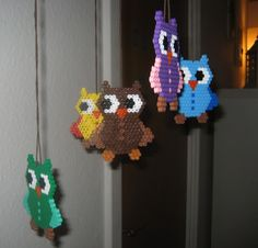 Perler beads, but a good idea for a plastic canvas design.