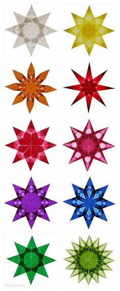 Aprende a hacer estos 10 tipos de estrellas para decorar tus ventanas.....