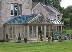 With over 35 years' experience in designing and making conservatories and orangeries, it is a question that we often get asked and you would not be alone in wondering what the differences between a conservatory and an orangery are. Orangery Extension Kitchen, Orangerie Extension, Cottage Extension, House Extension Design, Garden Room Extensions, House Extensions, Roof Design, House Design, Design Design