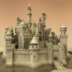 sandcastle sand castle model - Sandcastle by Spexstudio.Who needs resin or molds! Medieval Castle, Medieval Fantasy, Model Castle, Fantasy Castle, Environment Concept Art, Fortification, Sand Art, Fantasy Landscape, Architecture