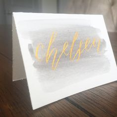 Wooden Wedding Drink Menus, Hand Lettered in Calligraphy | Cas ...