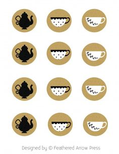 Adorable Cupcake Toppers - Tea Party Printables for your every need!
