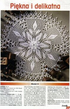 "Photo from album ""Robotki Reczne extra on Yandex. Diagram Chart, Crochet Diagram, Japanese Crochet Patterns, Crochet Dollies, Crochet Tablecloth, Views Album, Doilies, Knitting, Aga"