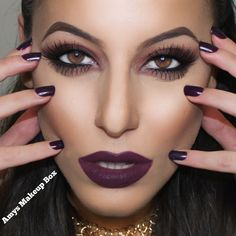 Fall Glam Makeup Loving purple/plum lips!   ❌⭕