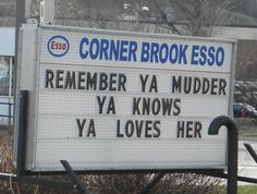 Happy Mother's Day from Corner Brook, Newfoundland! Canada Funny, O Canada, Visit Canada, I Am Canadian, Canadian History, Canadian Humour, Newfoundland Canada, Newfoundland And Labrador, Atlantic Canada