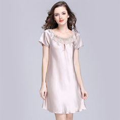 347978412c New Women s Sexy Lingerie Satin Silk Night Dress Plus Size S ~ 4XL Sleepwear  9 Color