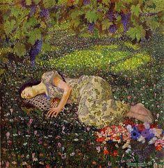 Felice Casorati. The dream of the pomegranate. 1912