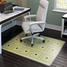 Incroyable Square Chair Mat Offer A Contemporary Touch · Floor ChairChair MatsHard ...