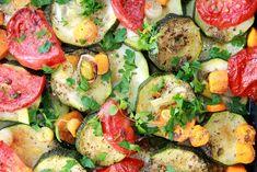 Zapiekane warzywa w marynacie czosnkowo - ziołowej | Tysia Gotuje blog kulinarny