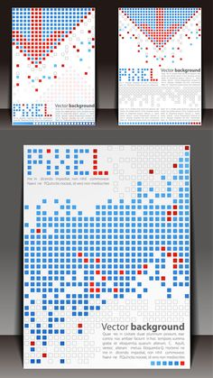 Square spot book covers vector graphics