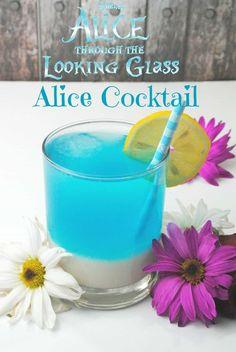 Alice cocktail1 Blue Cocktails, Cocktail Drinks, Cocktail Recipes, Cocktail Glass, Blue Drinks, Cocktail Parties, Sonic Drinks, Birthday Cocktail, Cocktail Desserts