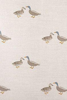 Ducks Fabric- Neutral Colours, Pretty Designs