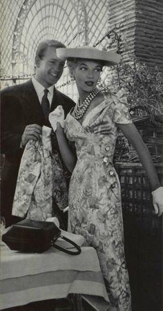 1955 Jean Patou vintage fashion