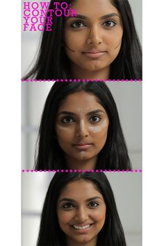 How To: Contour Your Face Birchbox staffer Deepica is a self-professed contouring addict. Watch her easy tutorial below to score a naturally sculpted-looking face with cheekbones that pop. All you need is a bronzer or foundation two shades darker than your skin tone, a highlighter, blush, and a great blending brush.  —Lorelei Find our favorite bronzers in the Birchbox Shop.