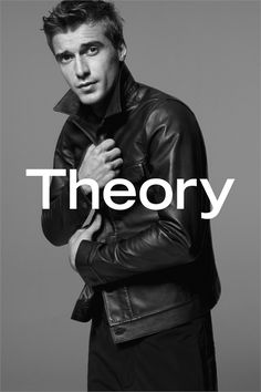 Perfection @Clément Chabernaud Stars in Theorys Black & White Spring 2015 Ad Campaign