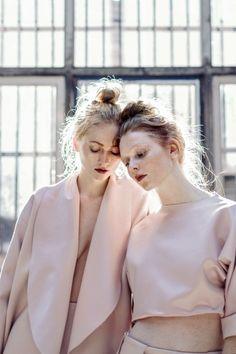 pale pink + burgundy lips