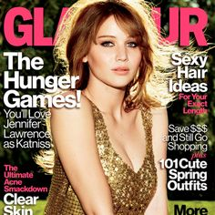 LOVE the cover of the new glamour mag! going to have to get this one for sure. #katniss