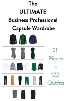 New year, new wardrobe, am I right? But your business professional capsule wardrobe doesn't have to break the bank or be a million pieces. You can do it with just 21 pieces and not even repeat an outfit, take that Karen. Capsule Wardrobe Women, Capsule Outfits, Fashion Capsule, Wardrobe Basics, New Wardrobe, Work Wardrobe Essentials, Work Outfits, Capsule Wardrobe Winter, Capsule Wardrobe How To Build A