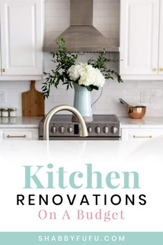 Kitchen renovations on a budget can be difficult to navigate for most homeowners. See how 20 clever bloggers made changes to their kitchens without sacrificing style! #kitchenrenovations #budgetrenovations #budgetkitchen #kitchenideas #sff225 Modern Kitchen Renovation, Small Kitchen Renovations, Renovation Budget, Kitchen On A Budget, Home Decor Kitchen, Diy Home Decor, Kitchen Ideas, Industrial Chic Kitchen, Farmhouse Style Kitchen