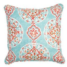 Multicolored pillow with a medallion motif.   Product: PillowConstruction Material: CottonColor: ...