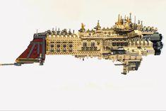 Battlefleet Gothic, Sci Fi Ships, Spaceship Design, Everything Is Awesome, Warhammer 40000, Battleship, Emperor, Legos, Big Ben