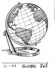 tattoo idea. no base on the globe. centered on N. and S. america.