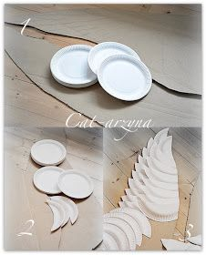 Cat-arzyna: Skrzydła the paper plate Angel wings.paper plate wings (not in english, but the pictures are a good reference) for HalloweenResultado de imagem para Angel wings made out of cardboard painted white and dry brushed them grey.From paper pla Diy Angel Wings, Diy Wings, Paper Plate Crafts, Paper Plates, Diy And Crafts, Crafts For Kids, Arts And Crafts, Cardboard Painting, Diy Angels