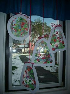Christmas sun catchers christmas crafts for toddlers, toddler christmas, ch Christmas Crafts For Toddlers, Toddler Christmas, Crafts For Kids To Make, Toddler Crafts, Christmas And New Year, Christmas Time, Diy And Crafts, Paper Crafts, Holiday Activities