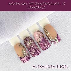 Moyra stamping plate No.19 Maharaja #moyra#nailart#stamping#maharaja