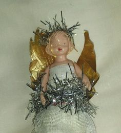 vintage Christmas tree fairy angel doll