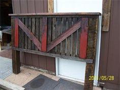 Headboard. Reclaimed barn wood