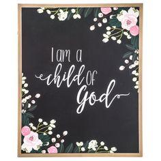 I Am A Child Of God Wood Wall Decor