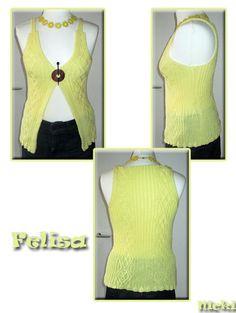 Felisa I Nicki's Kreativseite Nach einer Anleitung von Sarah Hatton Knitting, Tops, Breien, Tricot, Stricken, Weaving, Knits, Crocheting, Yarns