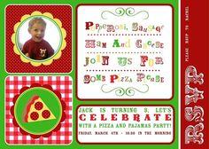 Pizza party invite!!