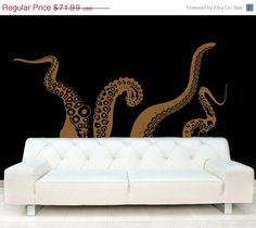 CLEARANCE Large Kraken/Octopus Tentacles Vinyl Wall Decal-Choose Any Color