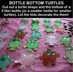 Turtle craft - Instead of dumping our rubbish example of how to recycle (uoi link)