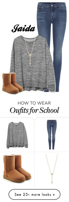 School   Celebrating Daddys Birthday | Jaida by thetotefamily on Polyvore featuring 7 For All Mankind, Gap, UGG and EF Collection