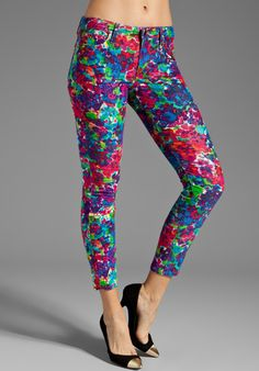 JOE'S JEANS Cord Skinny Ankle in Psychedelic Floral