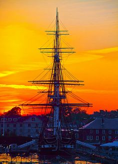 Sunset in USS Constitution, Massachusetts, Boston I've been on this boat! For real! Boston Strong, In Boston, Blog Art, Uss Constitution, Old Sailing Ships, Boston Massachusetts, Tall Ships, New Hampshire, New England