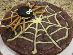 Spiderweb Brownie (no recipe, but cute idea)